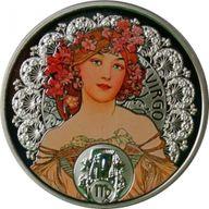 Niue 2011 1$ Virgo A. Mucha Zodiac Proof Silver Coin