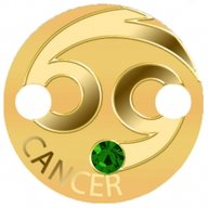 Cancer Zodiac Signs Pendant 1g Proof Gold Coin 5$ Niue 2017