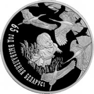 Belarus 2009 20 rubles The 65th Anniversary of Belarus's Liberation from Nazi Invaders Proof Silver Coin