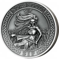 Cook Islands 2016 10$ The Norse Gods - Sif 2 oz Antique finish Silver Coin