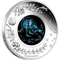 Australia 2013 1$ The Kangaroo 2013. Australian Opal Series Proof Silver Coin
