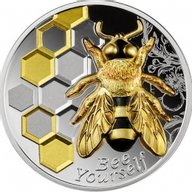 Always Bee Yourself 1 oz Proof Silver Coin 1000 Francs Cameroon 2021