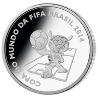 Brazil 2014 5 Reais - Mascot 2014 FIFA WORLD CUP Brazil Proof Silver Coin