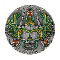 Amber Scarabaeus 2 oz Antique finish Silver Coin 5$ Niue 2020