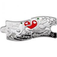 Niue 2012 2 x 1$ You & Me Proof Silver Puzzle Set