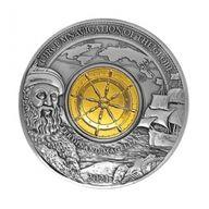 Ferdinand Magellan 500th Anniversary 3 oz Antique finish Silver Coin 5$ Barbados 2021