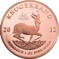 South Africa 45th Anniversary of the Krugerrand Proof Gold Coin