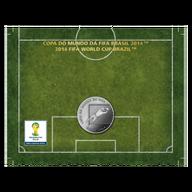Brazil 2014 2 Reais - Defense 2014 FIFA WORLD CUP Brazil Cu/Ni  Coin