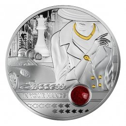 Success in Your Hands. Ruby edition 1 oz Proof Silver Coin 1000 Francs Cameroon 2021