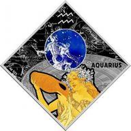 Aquarius Zodiac signs 2018 Proof Silver Coin 100 Denars Macedonia 2018