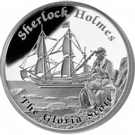 Tuvalu 2014 1$ The Gloria Scott Famous Ships That Never Sailed Proof Silver Coin