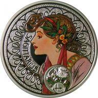 Niue 2011 1$ Sagittarius A. Mucha Zodiac Proof Silver Coin