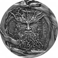 The Spirit of the Forest 2 oz Antique finish Silver Coin 2$ Niue 2021