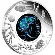 Australia 2013 1$ Pygmy Possum Opal Series Silver Proof Coin