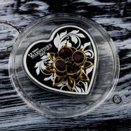 Happy Valentine's Day Proof Silver Coin 5$ Cook Islands 2019