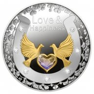 Love & Happiness Proof Silver Coin 1$ Niue 2021