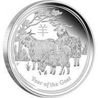Australia 2015 1$  Year of the Goat Australian Lunar Series II 2015 1 oz Proof Silver Coin