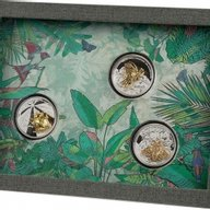 Golden Insects Collection 3 x 1 oz Proof Silver Set 3 x 2$ Samoa 2021