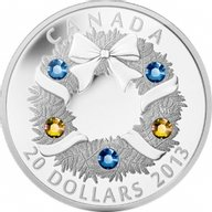 Canada 2013 20$ Holiday Wreath Silver Proof Coin