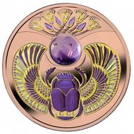 Amethyst Scarabaeus Proof Silver Coin 1$ Niue 2021