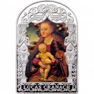 Andorra 2012 15 diners Madonna and Child under Apple Tree by Lucas Cranach. The Renaissance Madonna Program (3rd issue) Proof Silver Coin