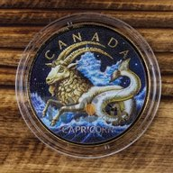 Maple Leaf Zodiac - Capricorn 1 oz BU Silver Coin 5$ Canada 2018