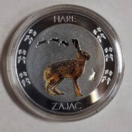 Niue 2015 1$ Symbols of Nature - Hare Proof Silver Coin 10 g