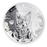 The Wolf Majestic Wildlife 1 Kilo Proof-like Silver Coin 25$ Samoa 2021