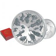 888g Lunar Calendar 888g Proof-like Silver Coin 25$ Samoa