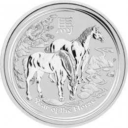 Australia 2014 1$ Year of the Horse 1oz silver UNC