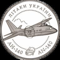 Ukraine 2004 10 Hryvnia's AN-140 aircraft Proof Silver Coin