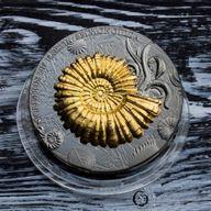 Ammonoidea Evolution of Earth 2 oz Antique Finish Silver Coin 2$ Niue 2018