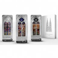 Cook Islands 2014 3x20$ Cologne Giant Windows of Heaven Proof Silver Set
