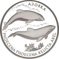 Ukraine 2004 10 Hryvnia's Azov Dolphin Proof Silver Coin