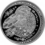 Belarus 2014 20 rubles Legend of the bullfinch Proof Silver Coin