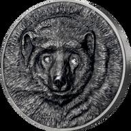 Wolverine Gulo Gulo 1 Kilo Antique finish Silver Coin 20000 togrog Mongolia 2020