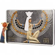 Goddess Isis Masterpieces 200 g Silver & 10 g Gold Proof-like Coin 40$ & 10$ Solomon Islands 2020