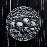 Skull Chapel 1 oz Antique finish Silver Coin 1000 Francs CFA Cameroon 2019