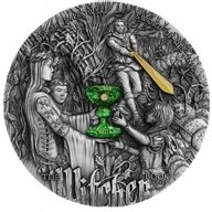 Sword of Destiny The Witcher 2 oz Antique finish Silver Coin 5$ Niue 2020