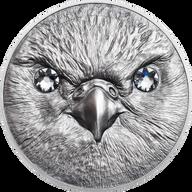 Mongolia 2016 500 togrog Saker Falcon Wildlife Protection Silver Antique Finish Coin