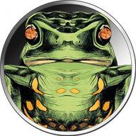 Diamond Frog 1 oz BU Silver Coin 5 Cedis Republic of Ghana 2020