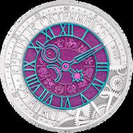 Austria 25€ 2016 Time Clock BU Niobium Silver Coin