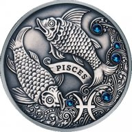 Belarus 2013 20 rubles Pisces Signs of the Zodiac  Antique finish Silver Coin