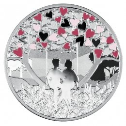 Feel The Love Proof Silver Coin 500 Francs Cameroon 2020