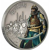 Niue 2017 2$ Warriors of History Ayyubids 1 oz Proof Silver Coin