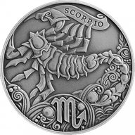 Belarus 2015 1 ruble Scorpio Signs of the zodiac  Antique finish CuNi Coin