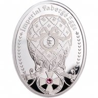 Order of St. George Egg Imperial Faberge Eggs Proof Silver Coin 1$ Niue 2012