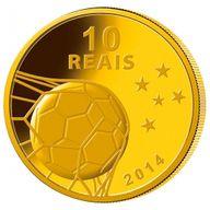 Brazil 2014 10 Reais - Trophy 2014 FIFA WORLD CUP Brazil Proof Gold Coin