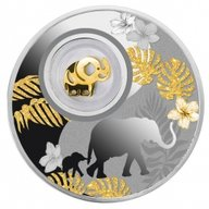 Elephant Lucky Coins Proof Silver Coin 500 Francs Cameroon 2020