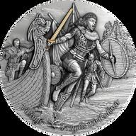 Freydis Eiriksdottir Vikings 2 oz Antique finish Silver Coin 5$ Niue 2021